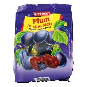 Prune séchée recouverte de...