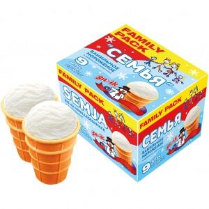 Ванильное мороженое в...